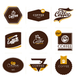 retro styled coffee labels badges vector image vector image