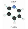 Pyridine C5H5N molecule vector image