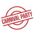 Carnival Party rubber stamp vector image