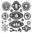 Nautical Labels Set vector image