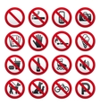 prohibited signs vector image
