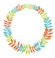 Floral wreath vector image vector image
