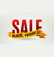 Black friday sale design template Sale banner vector image vector image