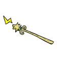 comic cartoon magic wand vector image