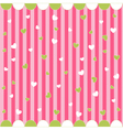 cute seamless pattern with little hearts vector image vector image