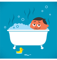 Bathtub Relaxation vector image