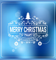 christmas and new year 2018 message over blurred vector image