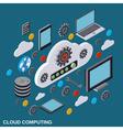 Cloud computing remote control data storage vector image