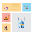 flat icon minaret set of traditional vector image