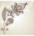 hand draw ornate floral pattern vector image