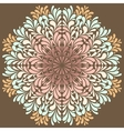 Ornamental round pattern with drops vector image