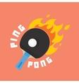 Ping-pong is on fire vector image