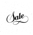 Sale label vintage vector image