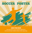 soccer players poster template vector image