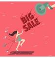 big sale woman girl female shoes shout speaker vector image