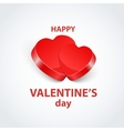 pair valentine heart on abstract vector image