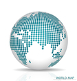 Dotted Globe vector image vector image