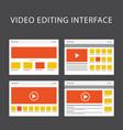video editing software interface - media vector image