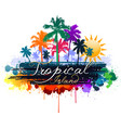 colorful tropical background vector image