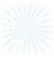 Sunburst retro cloud vector image