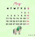 2015 horses may vector image vector image