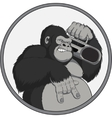 Monkey with a tape recorder vector image vector image