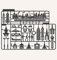 Plastic model kits required set of Bangkok city vector image
