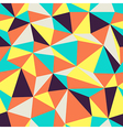 triangular pattern retro colors vector image vector image