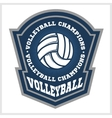 Volleyball championship logo with ball vector image