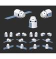 Modern reusable spaceship vector image