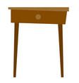bedside table cartoon vector image