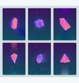 bright backgrounds with retro futuristic neon vector image