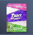 colorful dance party announcement vector image
