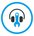 Headphones Tuning Rounded Icon vector image