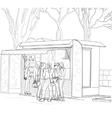 Sketch street fast food vector image
