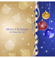 Merry christmas 3 vector image vector image