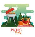 Colorful picnic party poster vector image
