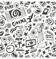 Cinema - seamless background vector image