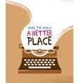 Vintage typewriter poster vector image