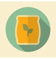 Fertilizer retro flat icon with long shadow vector image