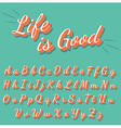 Calligraphy retro alphabet collection vector image