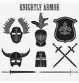 knightly armor vector image