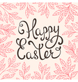 Easter background with pink leaves vector image
