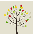 Singing bird on Tree vector image