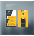 Vertical business card print template Personal vector image