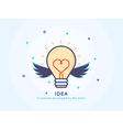 Idea Icon with a Lightbulb vector image vector image