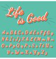 Calligraphy retro alphabet collection vector image