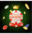 casino chips sign vector image
