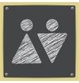 chalk drawn sketch oficon vector image