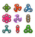 hand spinner toy fidget toy for increased focus vector image